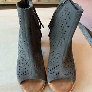 Toma open toe booties - work once! 9.5